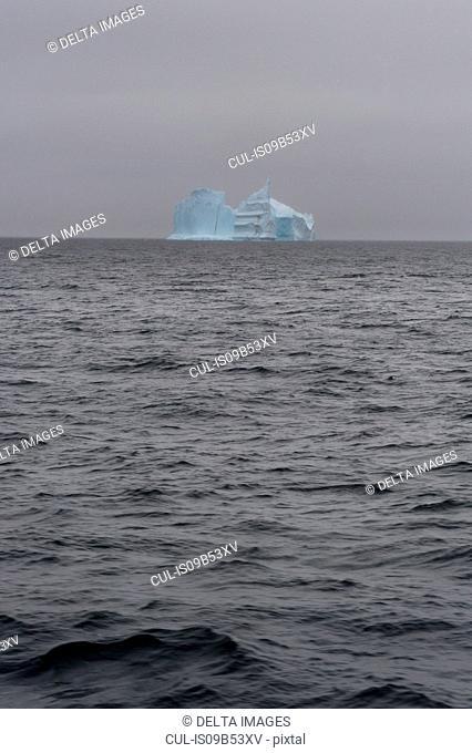 Iceberg on horizon, Deception Island, Antarctica