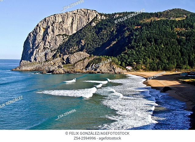 Laga beach and Cape Ogoño, Biscay, Basque Country, Spain
