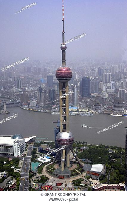 Shanghai Skyline From The Observation Deck Of The Jinmao Tower, Shanghai, China