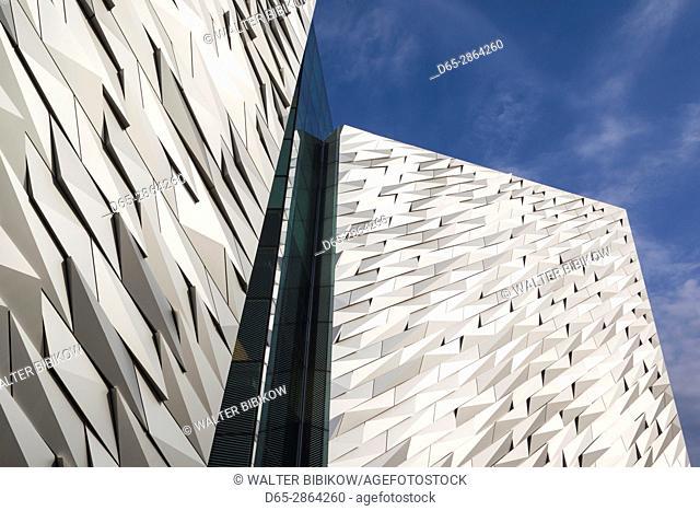 UK, Northern Ireland, Belfast, Belfast Docklands, Titanic Belfast Museum, exterior