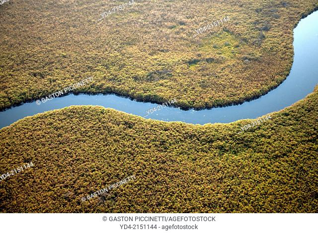 Aerial View of the Okawango Delta, Botswana