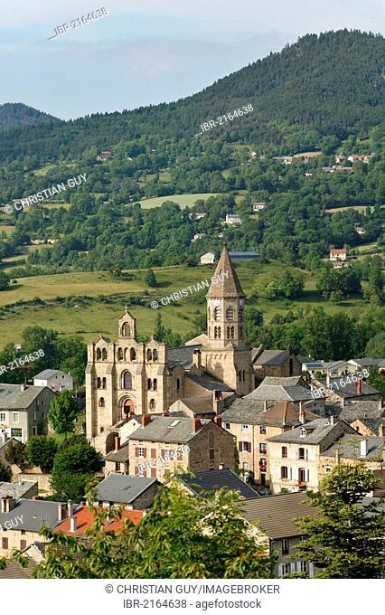 Romanesque church of St Julien Chapteuil, near Le Puy en Velay, Haute Loire, Auvergne, France, Europe