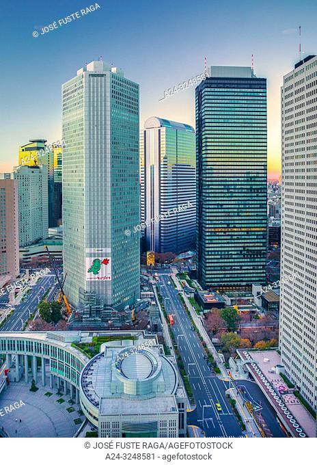 Japan, Tokyo City, Shinjuku ward, Shinjuku Station West Side