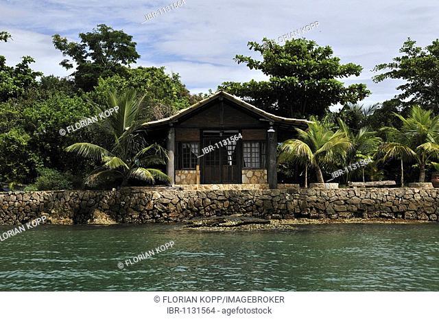 Bungalow, hotel facility, on a private island, Paraty, Parati, Rio de Janeiro, Brazil, South America