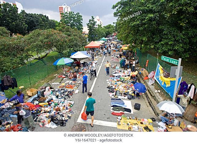 Thieves Market bric a brac street stalls Pasar Lane Singapore