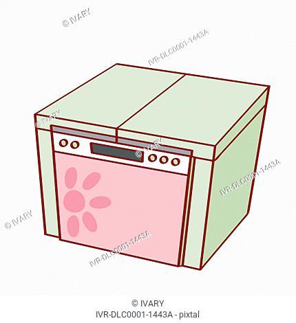 Illustration of washing machine