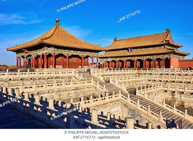 China, Beijing, Forbidden City, the Supreme Harmony door