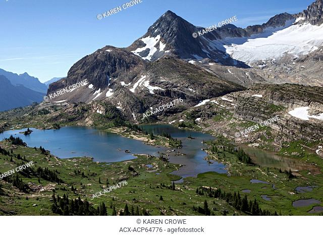 Limestone Lakes Basin and Russell Peak, Height of the Rockies Provincial Park, British Columbia, Canada