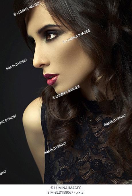 Close up of glamorous woman