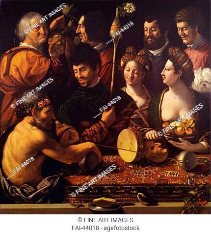 Witchcraft (Allegory of Hercules) by Dossi, Dosso (ca. 1486-1542)/Oil on canvas/Renaissance/ca 1535-1540/Italy, School of Ferrara/Galleria degli Uffizi