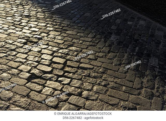 Cobblestones in the street, Funchal, Madeira Island, Portugal