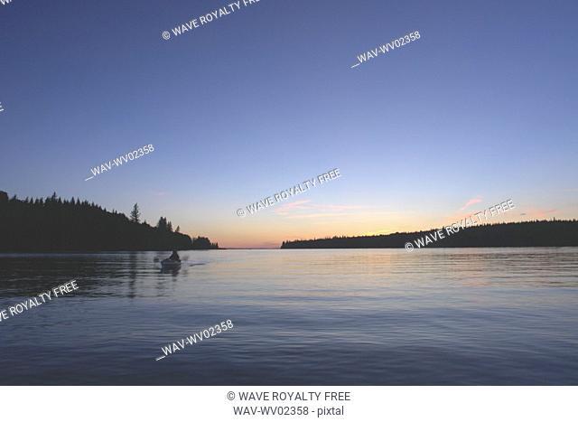Sunset at Clear Lake, Canada, Manitoba, Riding Mountain National Park