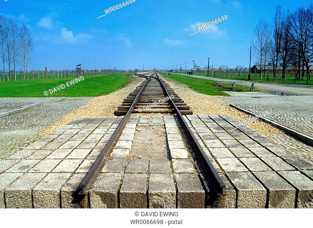 The train to death at Auschwitz concentration camp, Birkenau, Poland