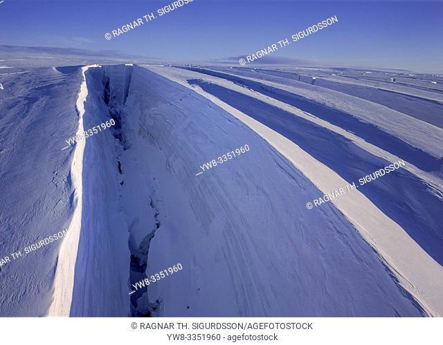 Crevasse, Tungnarokull glacier, Vatnajokull National Park, Iceland