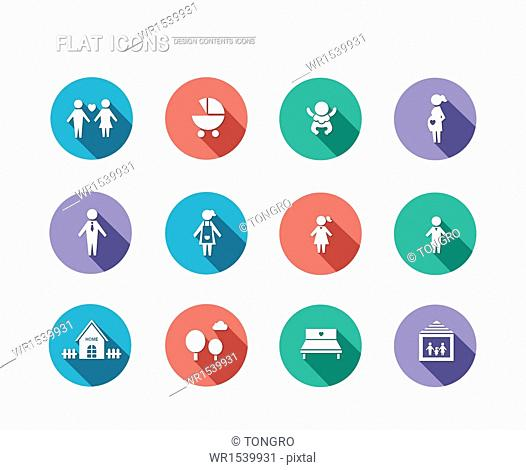 a set of different flat icons