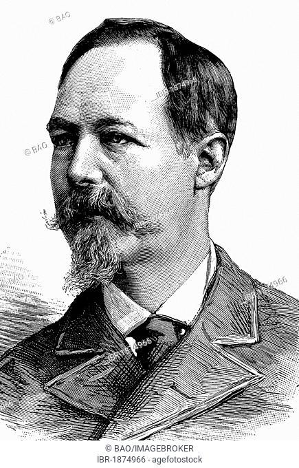 Louis Philippe Albert d'Orleans, 1838-1894, Count of Paris, historical illustration, circa 1886