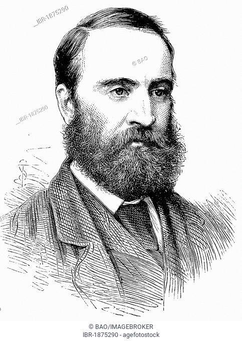 Charles Stewart Parnell, 1846-1891, Irish politician, historical illustration, circa 1886