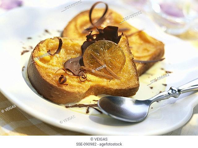 slices of orange brioche topic: open sandwiches
