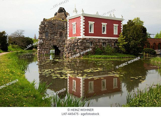 Villa Hamilton on the island of stone, Woerlitz, UNESCO world heritage Garden Kingdom of Dessau-Woerlitz, Saxony-Anhalt, Germany