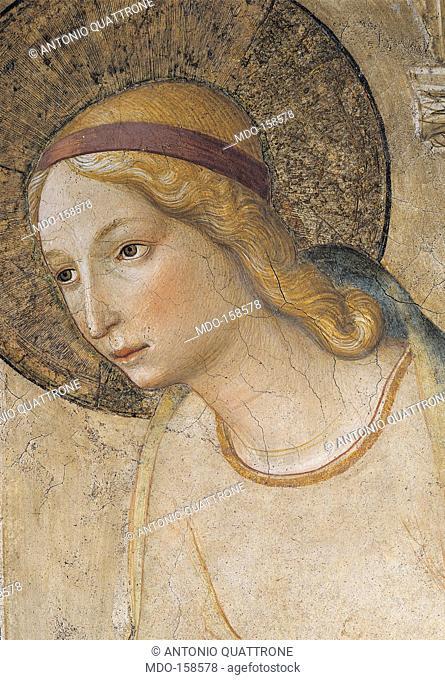 The Annunciation, by Guido di Pietro (Piero) known as Beato Angelico, 1438 - 1446 about, 15th Century, fresco, cm 230 x 321