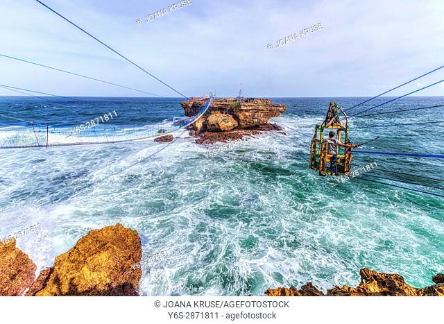 cable car at Timang beach, Yogyakarta, Java, Indonesia, Asia