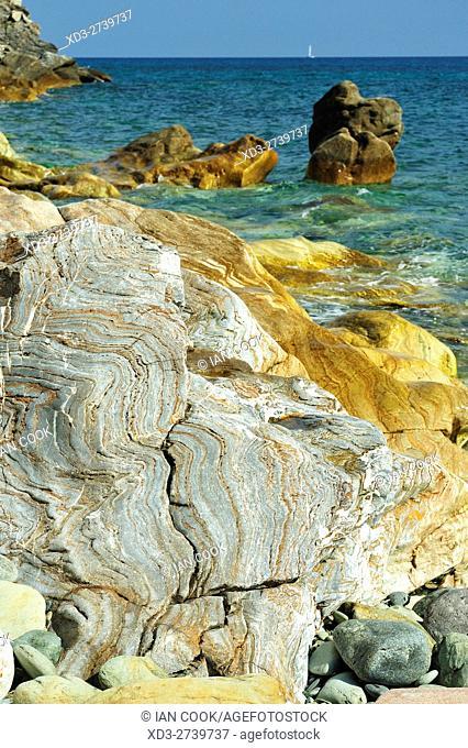 beach at Marine de Sisco, near Bastia, Corsica, France