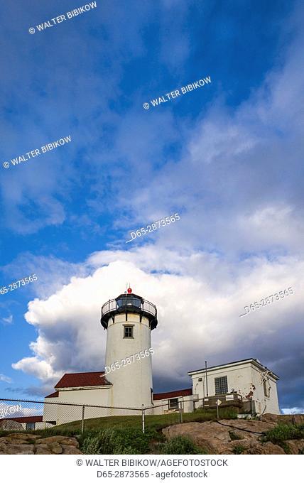 USA, Massachusetts, Cape Ann, Gloucester, Eastern Point LIghthouse, dusk