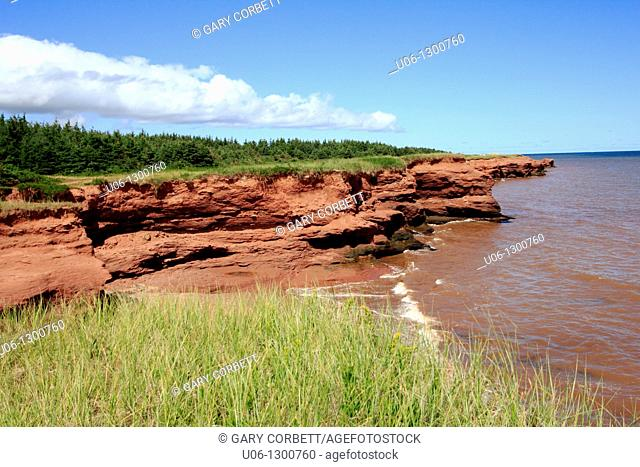 The Kildare Cliffs in Prince Edward Island Canada