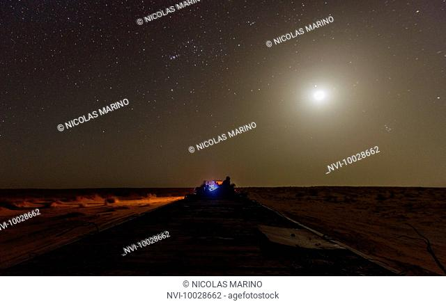 The longest train in the world running from Zerouat to Nouadibhu, Mauritania