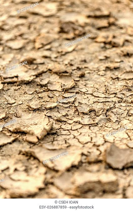 Texture of cracked ground during drought
