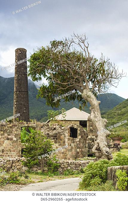 St. Kitts and Nevis, Nevis, New River, ruins of Coconut Walk sugar estate