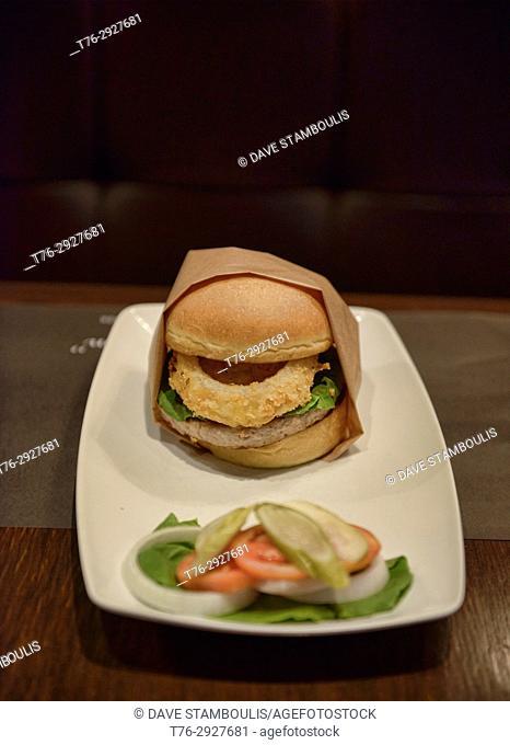 Gourmet hamburger, Bangkok, Thailand