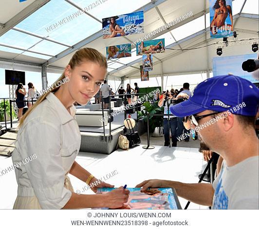 Sports Illustrated Swimsuit 2016 Swim Beach Fan Festival Featuring: Nina Agdal Where: Miami Beach, Florida, United States When: 17 Feb 2016 Credit: Johnny...