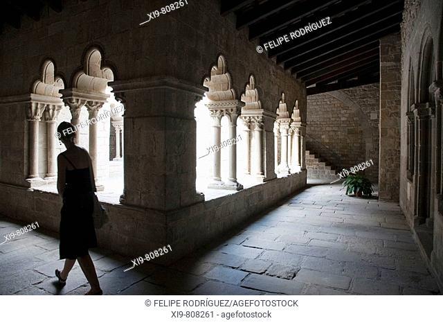 Cloister (12th century) of the Sant Pau del Camp Benedictine monastery, Barcelona. Catalonia, Spain