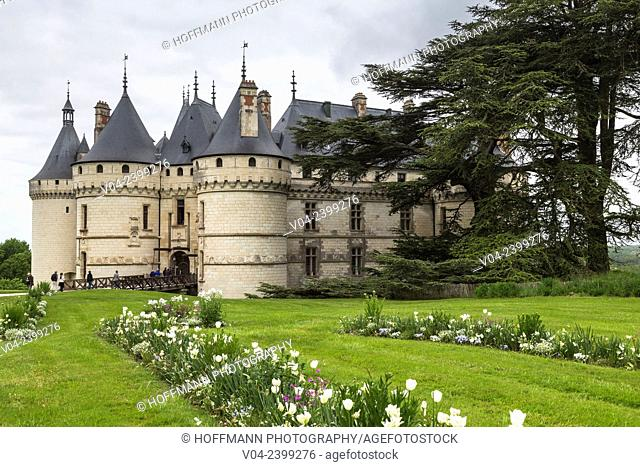 The beautiful Château de Chaumont-sur-Loire (Chaumont Castle) in the Loire Valley, Loir-et-Cher, France, Europe
