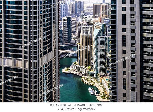 Modern architecture at Dubai Marina, Dubai, UAE