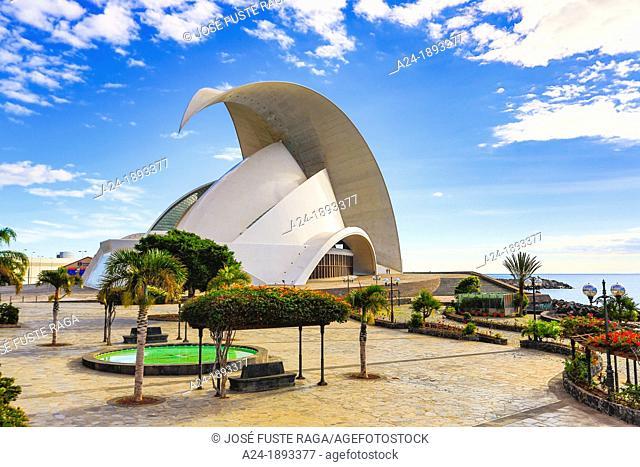 Spain , Canary Islands , Tenerife Island, Santa Cruz de Tenerife City , Auditorium Bldg  , built by Calatrava