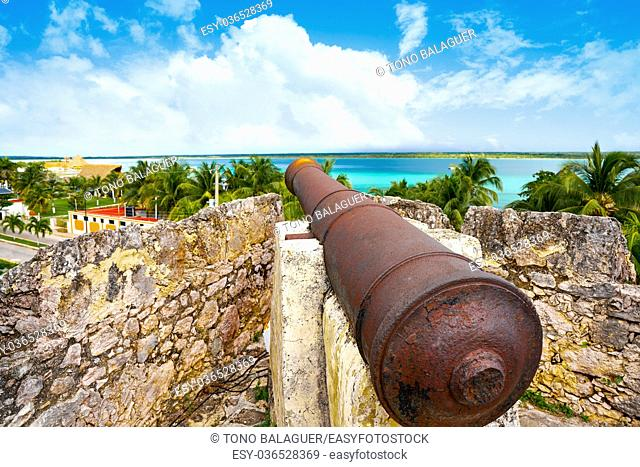 Bacalar San Felipe fort in Quintana Roo of Mexico