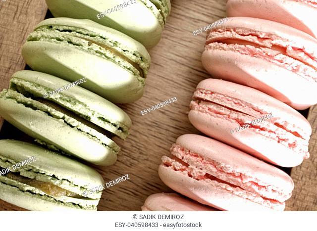close up shot of macarons