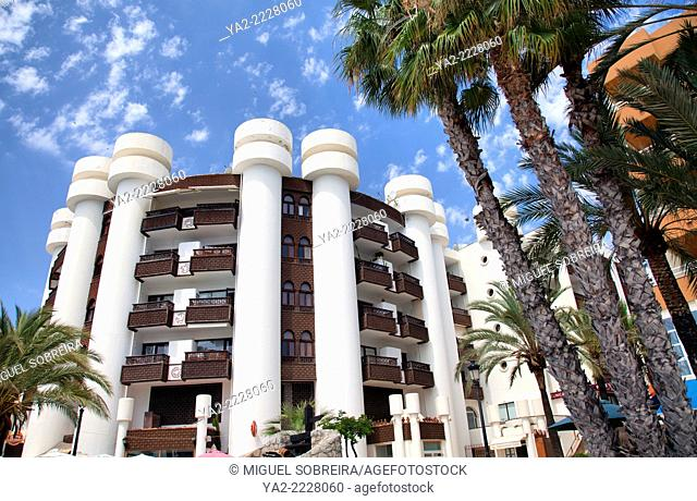 Promenade Buildings in Santa Eulalia in Ibiza