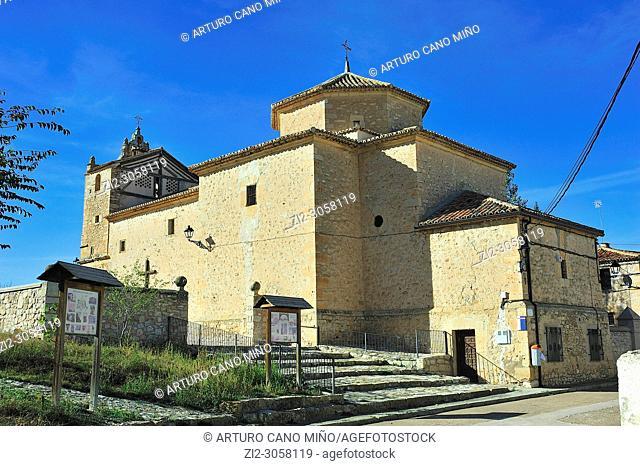 The Parish church. Embid town, Guadalajara province, Spain