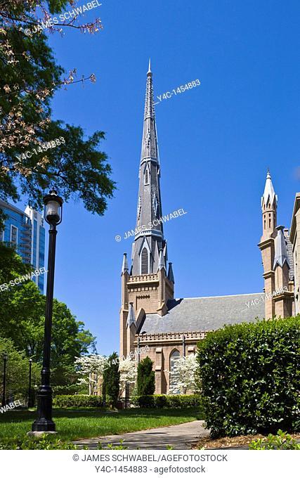 First Presbyterian Church in downtown Charlotte North Carolina