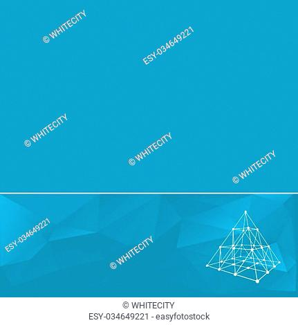 Abstract geometrical background. The template design booklet, brochure, banner, document. Vector, EPS10