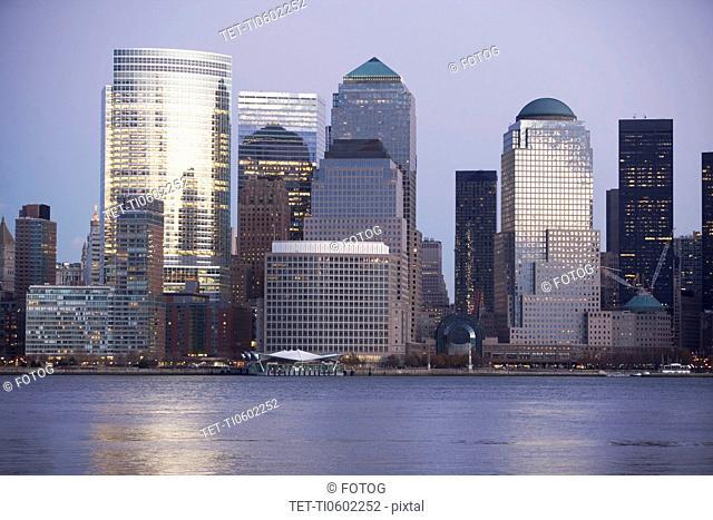 USA, New York State, New York City, Skyline
