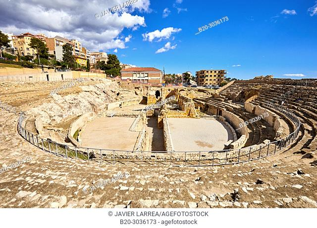 Roman Amphitheatre, UNESCO World Heritage, Tarragona City, Catalonia, Spain, Europe