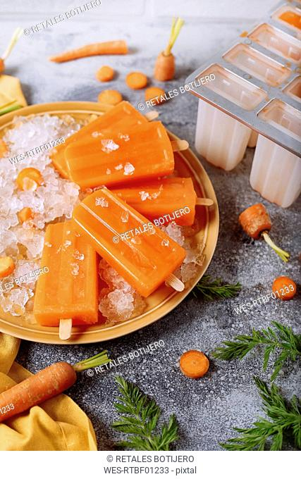 Carrot ice lollies