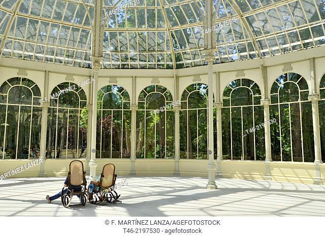 Two rocking chairs, Palacio de Cristal, Parque del Retiro, Madrid, Spain