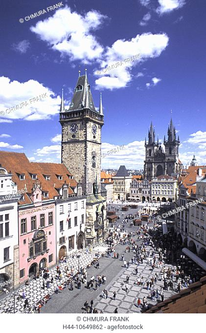 10649862, Old Town, old town, ring, Prague, city hall, Teynkirche, Czechia, Europe, tower, rook, Tyn church, overview