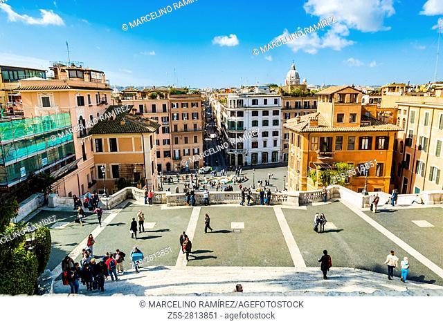 Spanish Steps and Square of Spain - Piazza di Spagna. Rome, Lazio, Italy, Europe