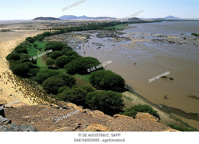 The course of the Nile in Nubia, in the area of the third cataract, Nile valley, Sudan